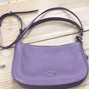 Coach Pebble Leather Chelsea Purse 56819 Lilac